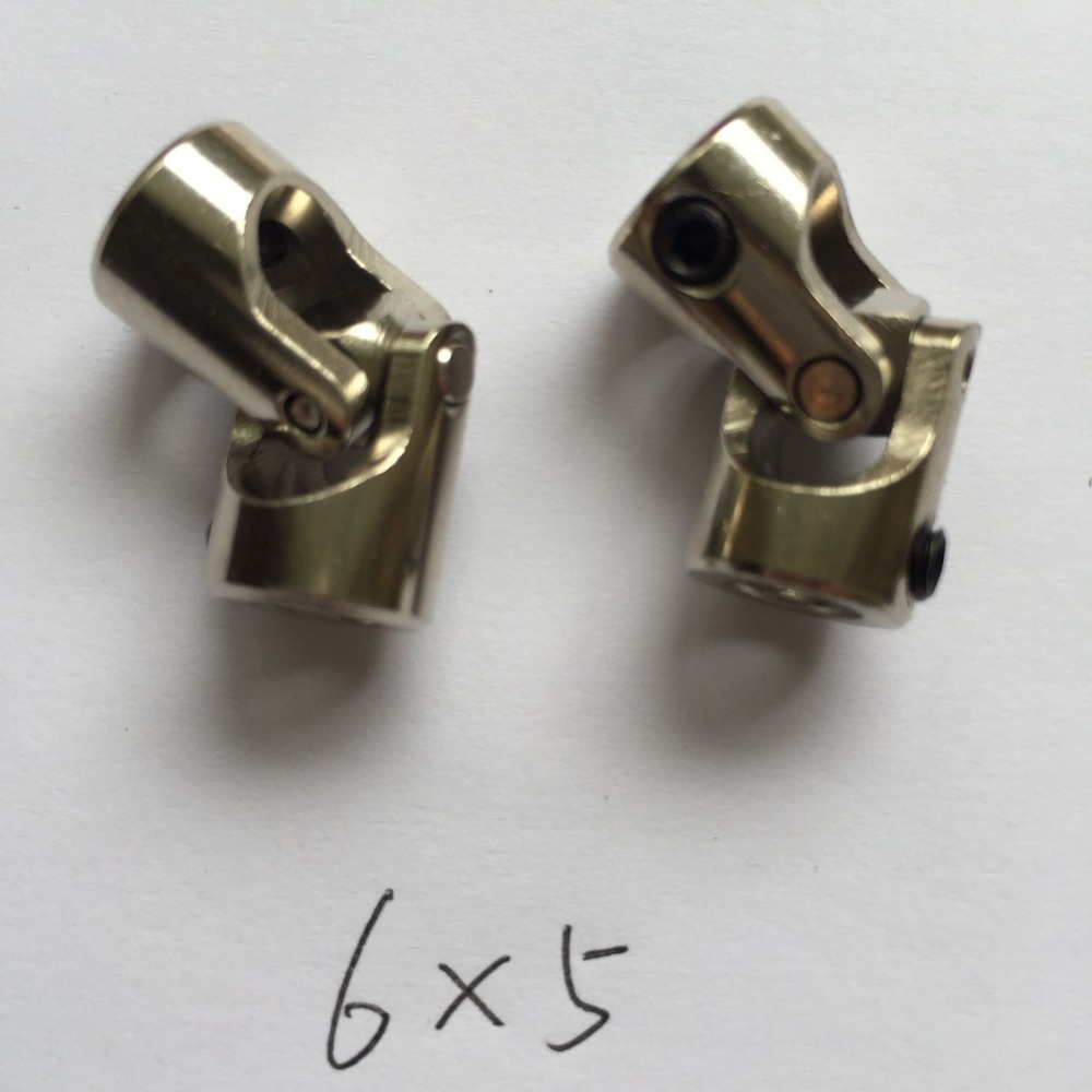 2Pcs 5mm-5mm Shaft Coupling Motor connector DIY Stainless Steel Universal Joint