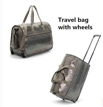Women Cabin Rolling Bag With Wheels Travel Luggage Trolley Wheeled Suitcase Baggage Snake Handbag In Bags From