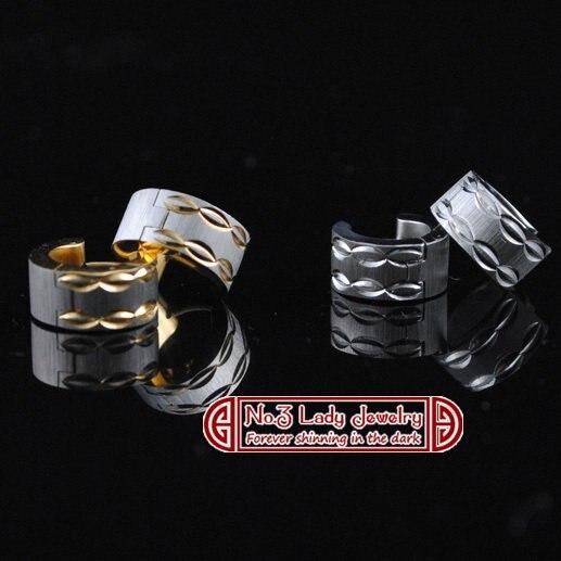 GOKADIMA Stainless Steel Wave Mens Earrings For Bikers Western Cow Boy, Wholesale&bijioux