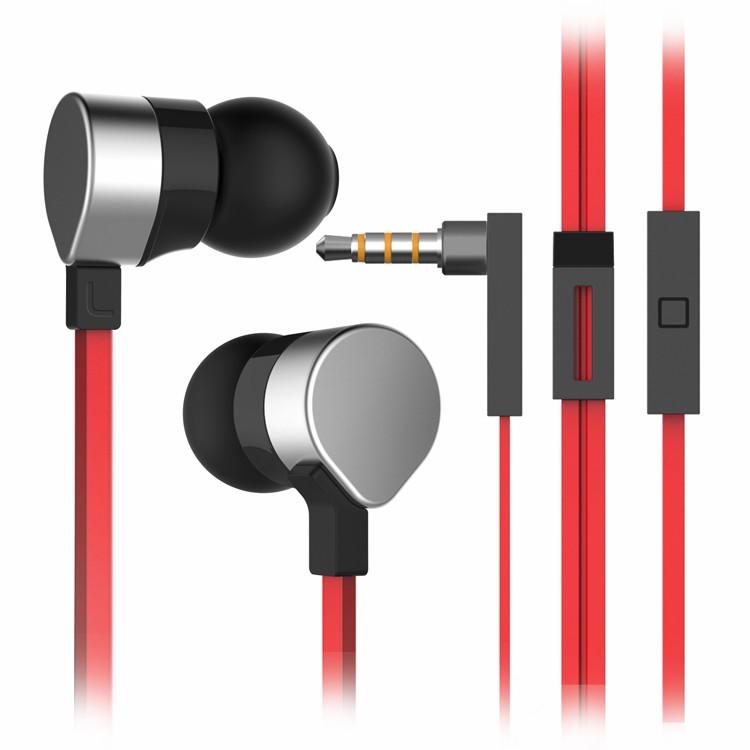 Wallytech orginal metal earphone WHF-125 Silver red 1