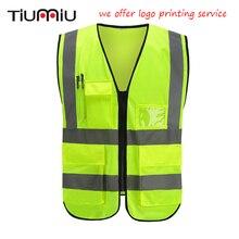 487c28375 Nova Workwear Roupas de Segurança de Tráfego Colete Refletivo Colete  Fluorescente Ao Ar Livre Seguro Ventilar
