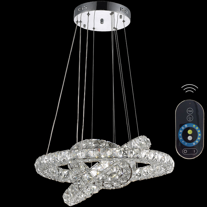 Modern Crystal Pendant Light Indoor LED Lamps Fixtures with 3 Rings CE FCC ROHS VALLKIN LIGHTING led luxury led amber k9 crystal pendant lights lamps fixtures with 3 ringsfree shipping110 240v