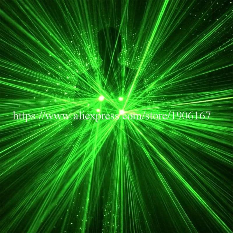 뜨거운 판매 그린 레이저 남자 12pcs와 함께 빛나는 의상 532nm 100mW 레이저 레이저 쇼 로봇 정장 파티 단계 Laserman 의류