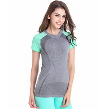 Women Sport T Shirt Fitness Running Athletic Apparel Tee Workout Quick Dry T-Shirt j2