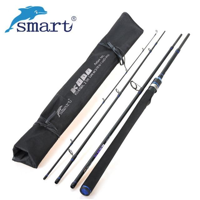SMART 2.1m 2.4m 2.7m Fishing Rod Carbon Spinning Fishing Rod Vara De Pesca 4-section Medium Carp Fishing Pesca Lure Rod Olta