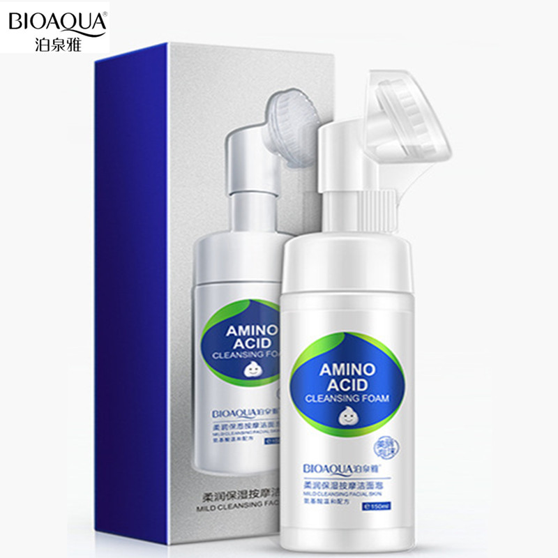BIOAQUA 1PC Facial Cleanser Hyaluronic acid moisturizer Massage face washing product acne face brush face exfoliator Skin Care
