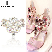 1pcs Bridal Wedding Party Shoes Accessories High Heels DIY Manual Rhinestone flower Sandals Shoe Decorations Pearl Patches