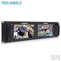 Feelworld D71 7 Inch IPS 3RU Camera LCD 3G SDI HDMI Input Output Rack Mount Monitor 7 1280x800 Broadcast Level Quality Monitor
