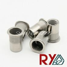 M6*50pcs  Rivet Nut Stainless Steel (Flat Head Knurled Body) Insert nut PEM