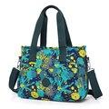 2017 Nueva Moda de Las Mujeres de Impresión Bolsas Bolsos Bolsa de Hombro Ocasional de Gran Capacidad de Nylon Resistente Al Agua Multifunción Messenger Bags