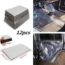 12 шт. 5 мм звукоизоляционный коврик для автомобильного брандмауэра, коврики для теплоизоляции, коврики для двери, Стекловолоконный трехслой...