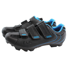 New process comfortable and breathable black shoes F-55 Convenient Velcro closure lock mountain cycling shoes