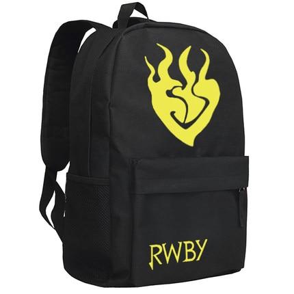 Anime RWBY Backpack Fashion Crescent Rose Luminous Oxford SchoolBag Unisex