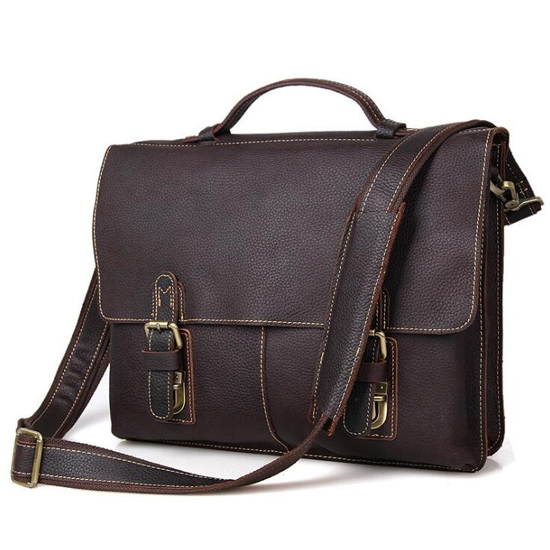 Top Grade Mens Business Men Briefcase Bag Luxury Genuine Leather Laptop Bag Male Shoulder Bag bolsa maletaTop Grade Mens Business Men Briefcase Bag Luxury Genuine Leather Laptop Bag Male Shoulder Bag bolsa maleta