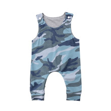FOCUSNORM Newborn Baby Boys Girl Sleeveless Vest Camouflage Romper Jumpsuit Outfit Clothes(China)