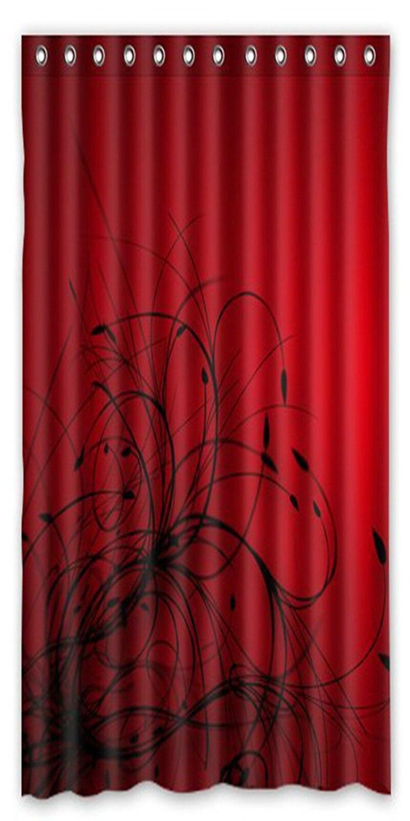 メモリホーム赤黒抽象壁紙シャワーカーテン浴室防水生地ポリエステル