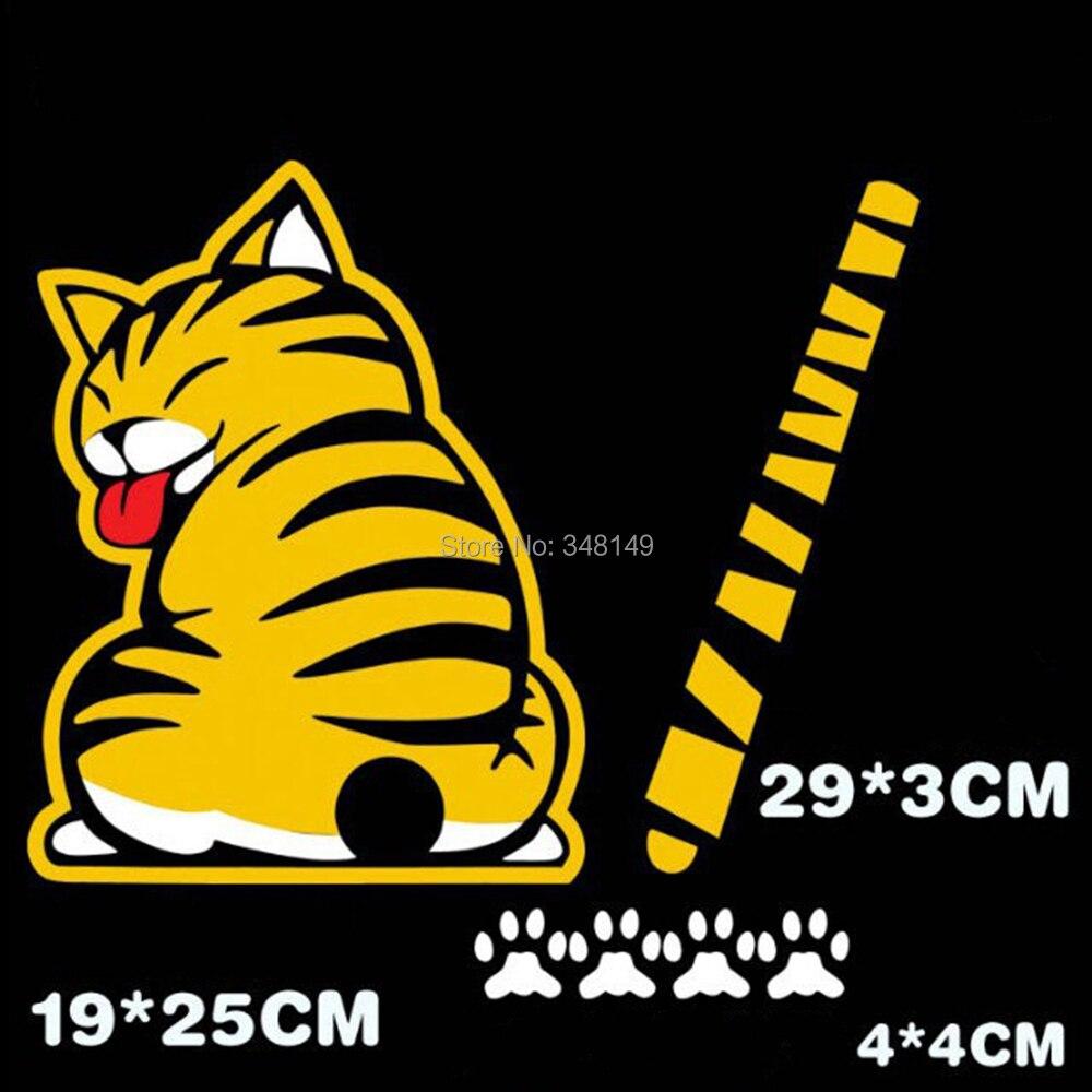 Aliauto Biltillbehör Cat Moving Tail Window Wiper Sticker Bakre - Exteriör biltillbehör - Foto 2
