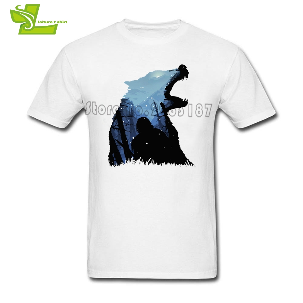 Jon Snow King Of The North Game Of Thrones House Stark T Shirt Mens Summer O Neck Club T ...