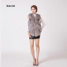 Vogue of new fund of 2016 fox fur hook ma3 jia3 irregular bottom fur vest font