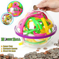 Money Ball Coin Game Magical Maze Brain Teaser Challege Mind Stimulate Easy,Marble Puzzle Game perplexus magnetic piggy ball