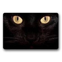 Entrance Floor Mat Non-slip Doormat Black Cat Door Outdoor Indoor Rubber Non-woven Fabric Top 18x30