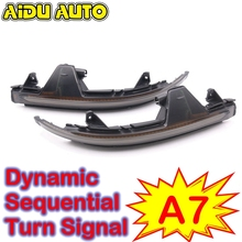LED Flowing Rear View Dynamic Sequential MIRROR Turn Signal Light For Audi A7