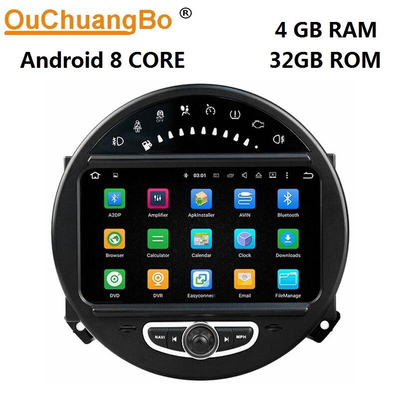 Lecteur audio Ouchuangbo Android 8.0 radio stéréo pour mini Countryman Clubman paceman r56 R57 r61 avec navigation GPS 4 GB + 32 GB