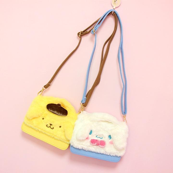 Cartoon My Melody Hello Kitty Cinnamoroll Pudding Dog Plush Backpack Women  Soft Shoulder Bag Anime Doll Girls Kids Children Gift ... db070b4d372d8