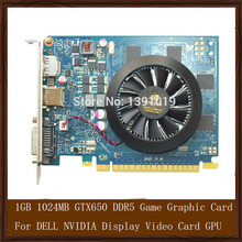Original Genuine 1GB 1024MB GTX650 DDR5 Game Graphic Card For DELL NVIDIA Display Video Card GPU Replacement Tested Working