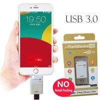 Usb 3.0 unidade de memória vara u flash usb3.0 disco 32gb 64gb 128gb para ipad pro ar para iphone x 8 mais 7 6 s mais 5 5S pc