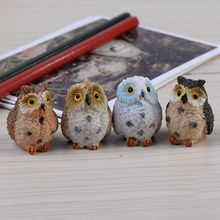 Small Set of Cute Owl Shaped Statuettes