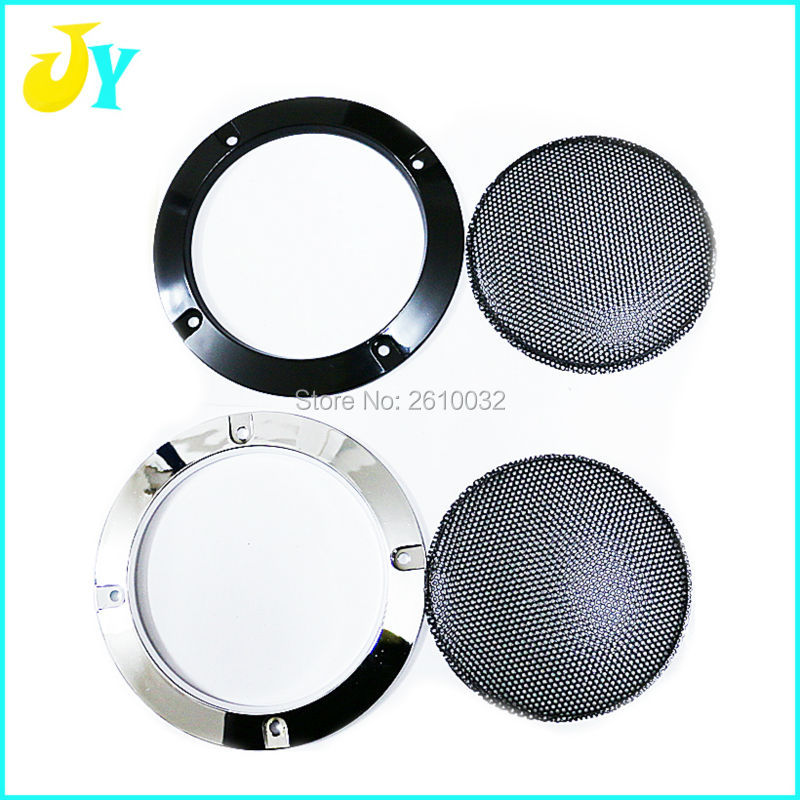 White Car Speaker Covers