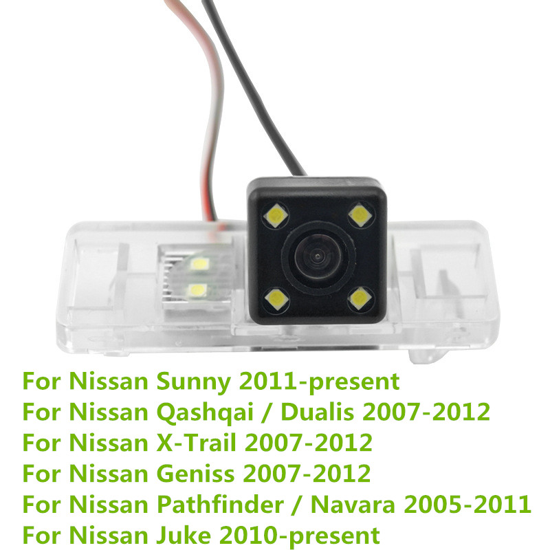 Night Vision Car Rear View Reverse Backup Parking Camera For Nissan Sunny Pathfinder Dualis X-Trail Geniss Navara Qashqai Juke