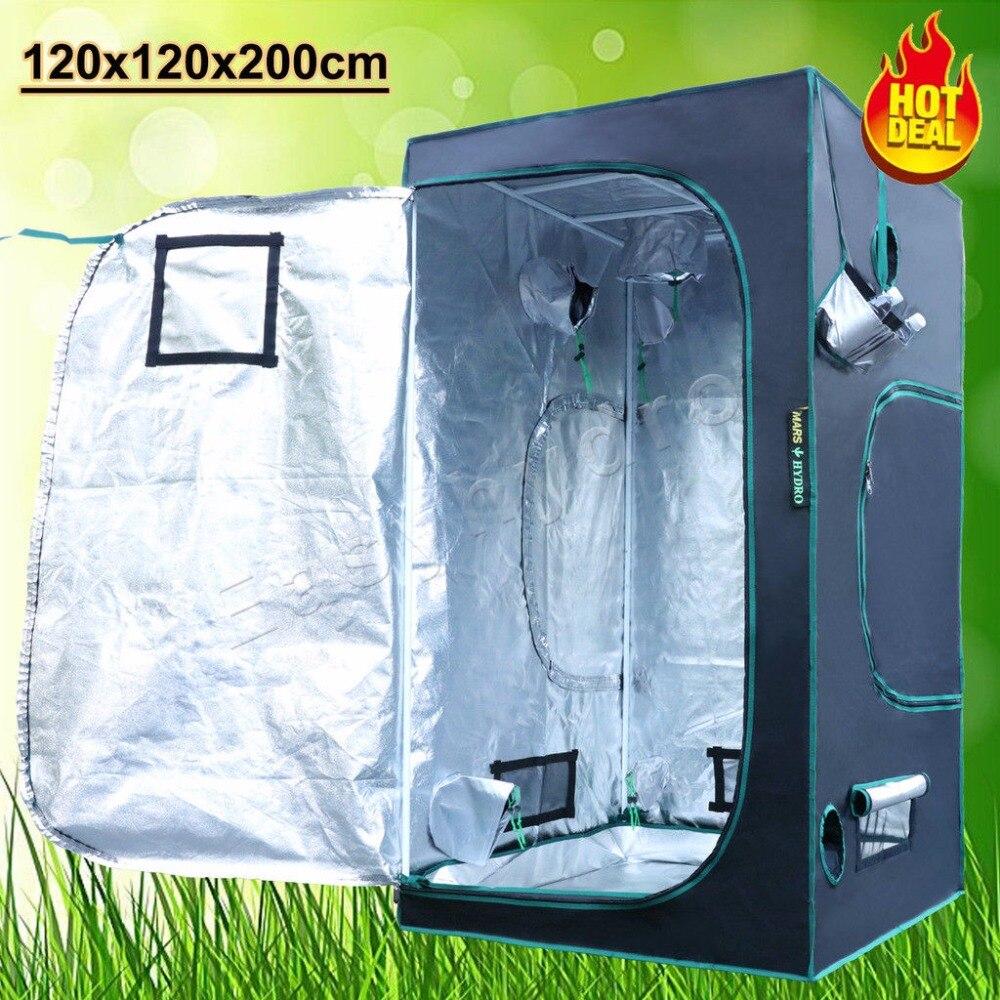 1680D Hydroponics 48x48x78(120x120x200cm) Grow Tent Hydro System 100% Reflective Mylar Grow Tent/Box for Plants
