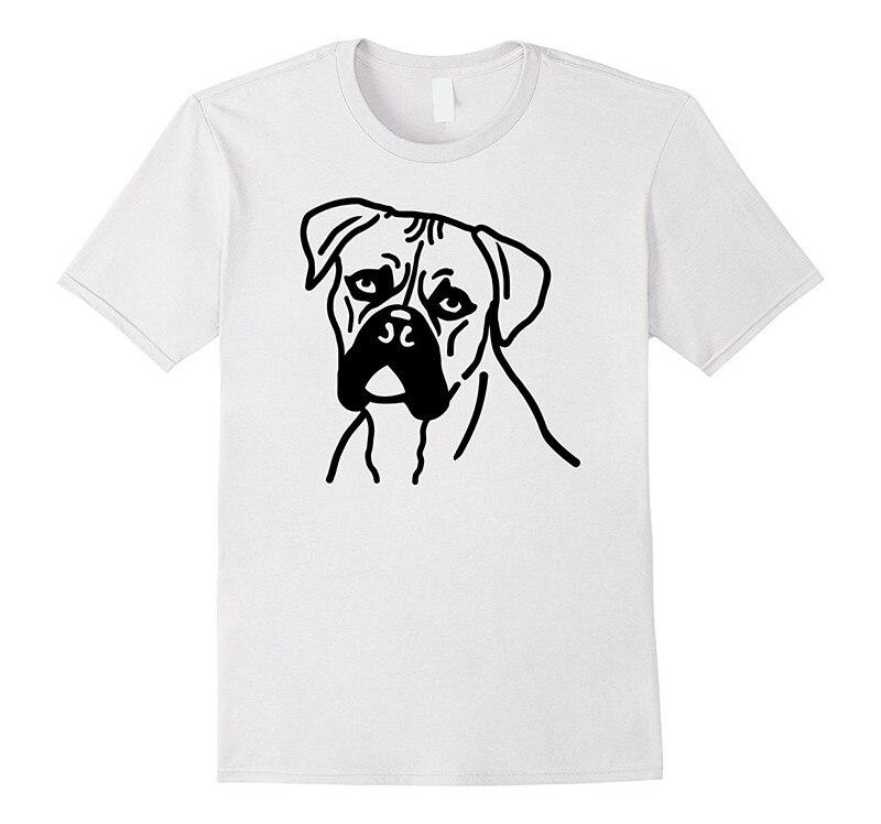 Custom T Shirt Design Design Shirts Boxer Dog Short Sleeve Gift O-Neck Shirts For Men