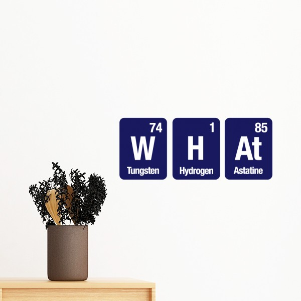 Funny What Yes No Chemical Element Be Li TireScience Silhouette Removable Wall Sticker Art Decals Mural DIY Wallpaper for Room