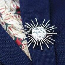 Anslow Neue Mode Schmuck Neue Design Charme Großhandel Retro Sonne Blume Frauen Brosche Anzug Mantel Hemd Clip Pin Zubehör