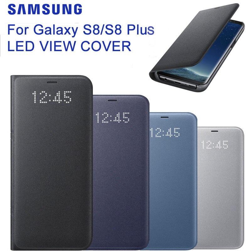 Pour SAMSUNG Original LED vue couverture Smart Cover coque de téléphone EF-NG955 pour Samsung Galaxy S8 S8 + S8 Plus sommeil fonction carte poche