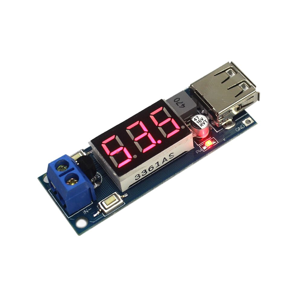 Dc Step Down Power Supply Module Battery Voltage Meter 5v 2a Usb Charger Circuit Recommended Products Charging