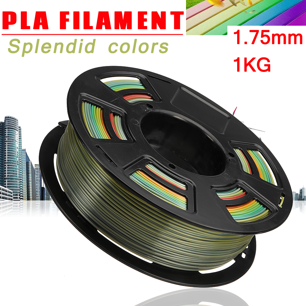 Multicolour 1.75mm 1Kg PLA Polylactic Acid 3D Printer Filament Non-Toxic For 3D Printer Extruder Pen Materials Accessories pla 1 75mm filament 1kg printing materials colorful for 3d printer extruder pen rainbow plastic accessories black white red gray