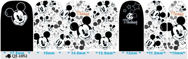 Schöne Nail Art Aufkleber Mickey Minnie Print Nail Tips Full Cover - Nagel Kunst - Foto 5