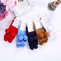 Pettigirl niña calcetines de bebé niños calcetines boutique ruffle arco calcetín hasta la rodilla de alta hecha a mano