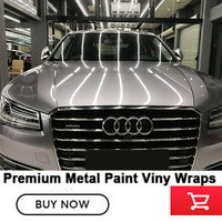 High quality metal paint titanium iron wrap with airrelease channels solvent based low initial tack adhesive silver chromium