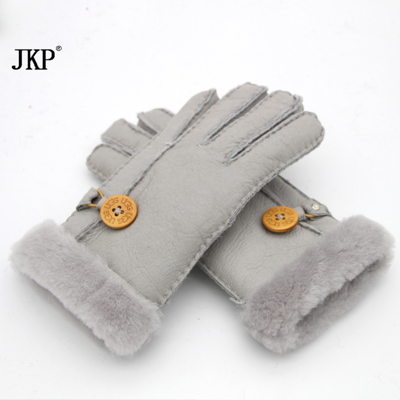 2017 Russian winter leather gloves lady s