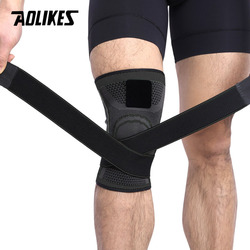 AOLIKES 1PCS 3D Pressurized Fitness Running Cycling Knee Support Braces Elastic Sport Compression Pad Sleeve For Basketball