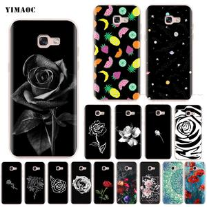 4938e8bf9f7444 YIMAOC Rose Flower Silicone Case for Samsung Galaxy S7 S8 S9 Plus Edge Note  8 J3