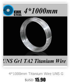 2*1000mm titanium fio uns gr1 puro ta2