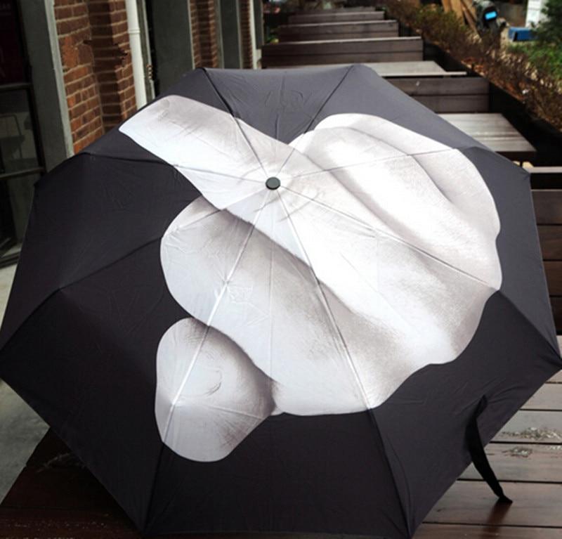 Middle <font><b>Finger</b></font> Umbrella UV Sun Umbrellas Parasol Female Automatic Umbrella for Women Folding Mini Sunshade Adults Guarda Sol