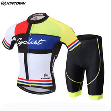 XINTOWN Men Bicycle Team Cycling Jersey Sets Outdoor Sportswear Roupa Ciclismo Bike Cycling Clothing With Bib Shorts CC0610