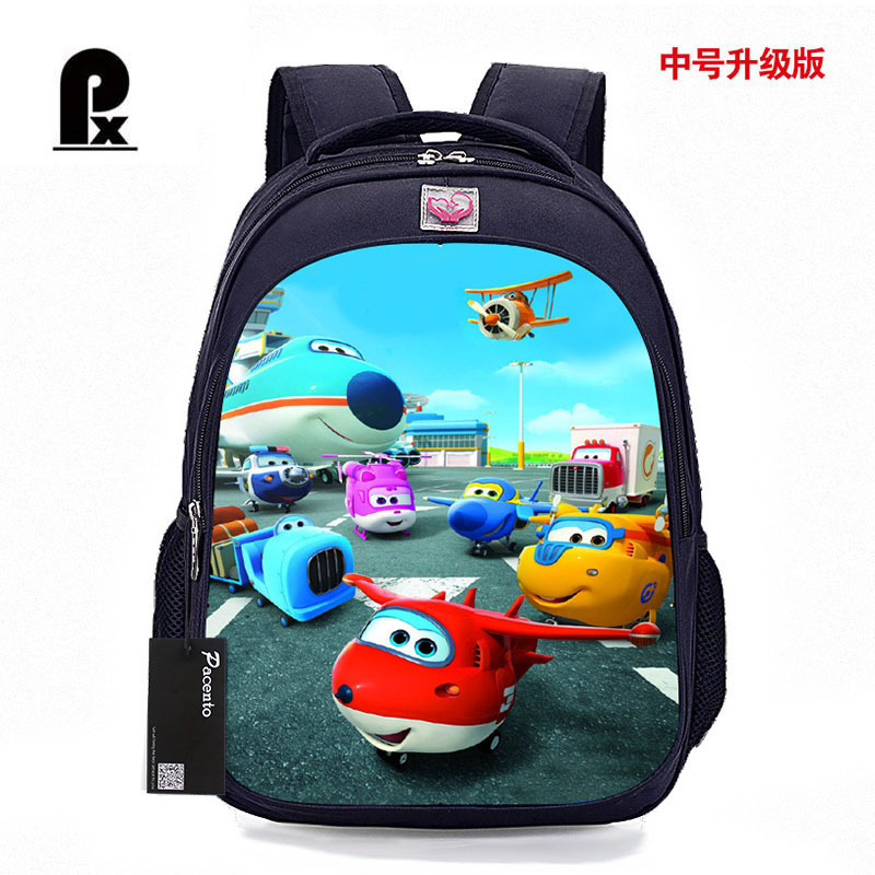 2017 Cartoon Super Wings Backpack for Boys and Girls Kids Cartoon Male Orthopedic Bag Children School Backpack Mochila Infantil